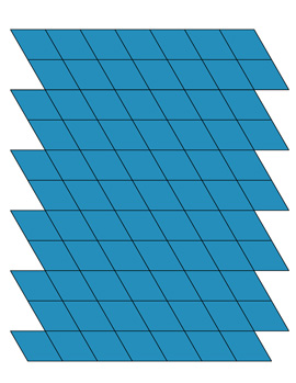 blue rhombus shapes