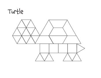 Striking image for pattern block shapes printable