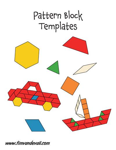 paper pattern block templates