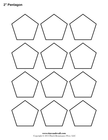 pentagon template 2 inch tim s printables