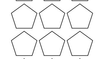 pentagon template 5 inch tim s printables