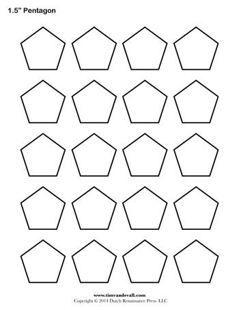 pentagon template 1 5 inch tim s printables