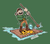 pirate on raft
