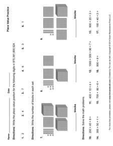 Place Value Worksheet #1