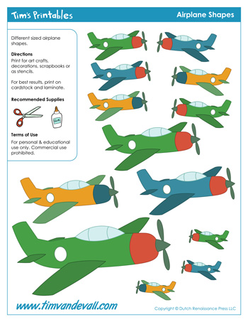 printable airplane stickers