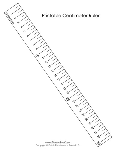 Printable Centimeter Ruler