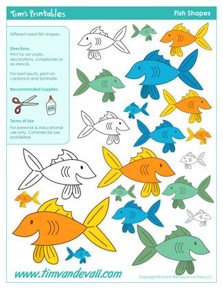 Fish Shape Printables