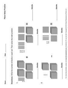 Place Value Worksheet #3