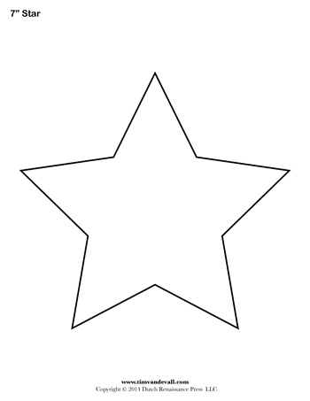 Unusual image for free printable star template