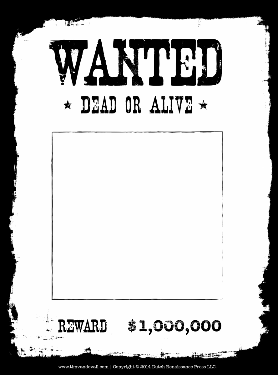 printable wanted poster template free