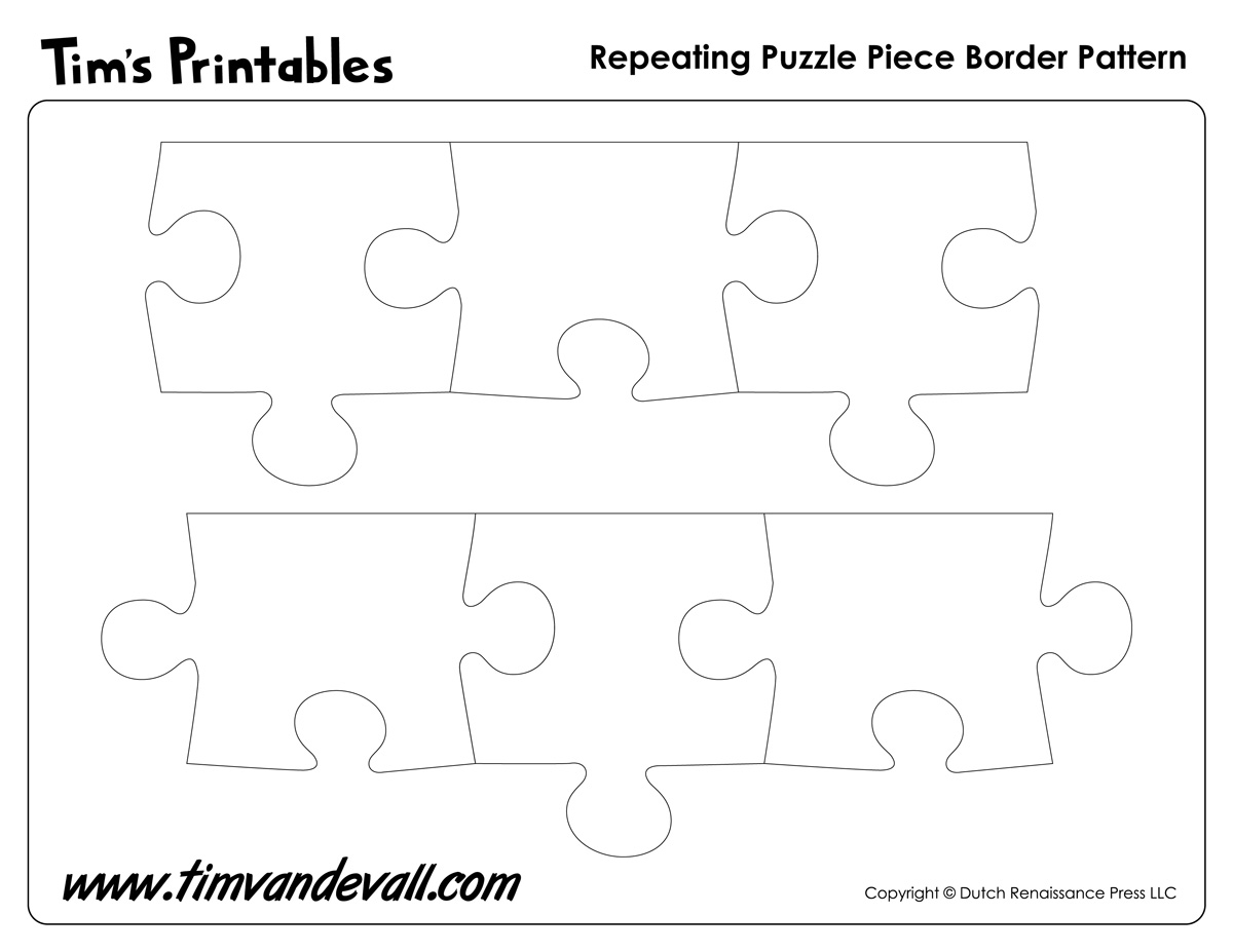 Printable Puzzle Piece Border Pattern Tim S Printables