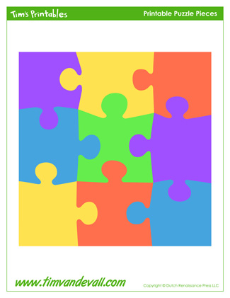 Free Puzzle Piece Templates Stickers Printable