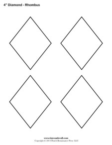 Diamond Templates - 4 inch