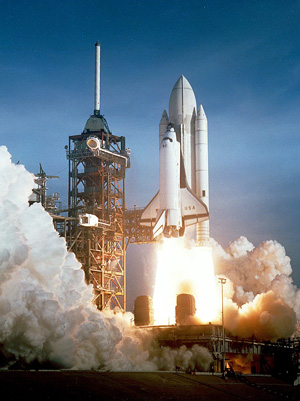 columbia space shuttle first flight - space shuttle facts for kids