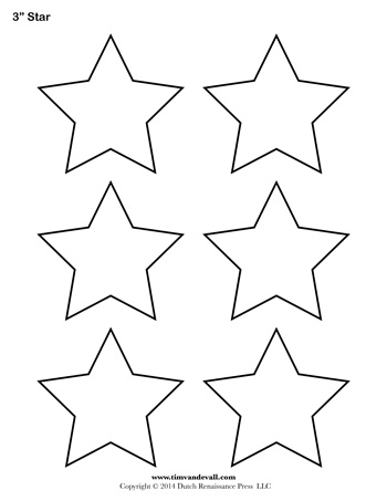 Star Template - 3 Inch