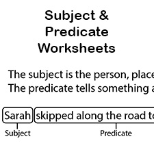 subject and predicate worksheets first grade language arts worksheets