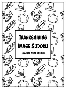 Thanksgiving Image Sudokus - Black & White