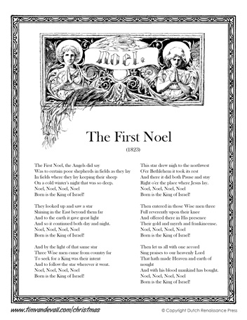 The First Noel Lyrics