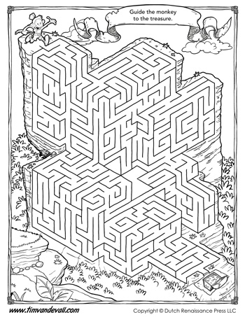 Free Maze Printable Maze Activity