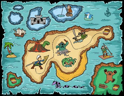 Treasure-Map-500 - Tim's Printables