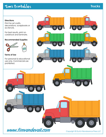 truck templates