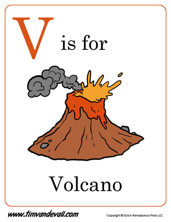 Volcano Diagram / Label the Volcano Worksheet for Kids ...