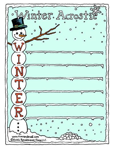 acrostic poem for winter