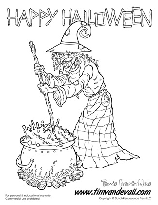 Printable Wicked Witch Coloring Page
