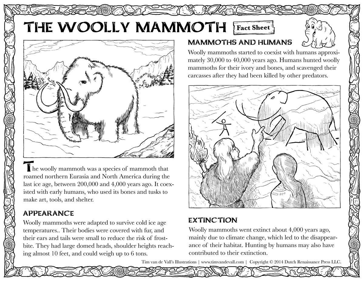 Woolly Mammoth Fact Sheet