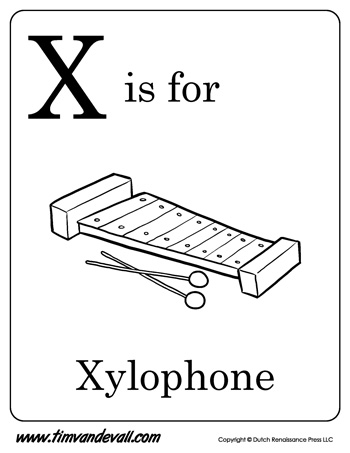 x is for xylophone letter x