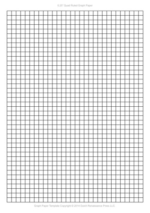 A4 Graph Paper, 0.25 inch quad ruled pdf