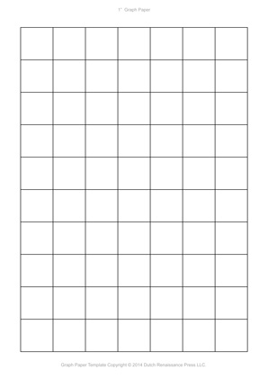 a4 graph paper template, 1 inch