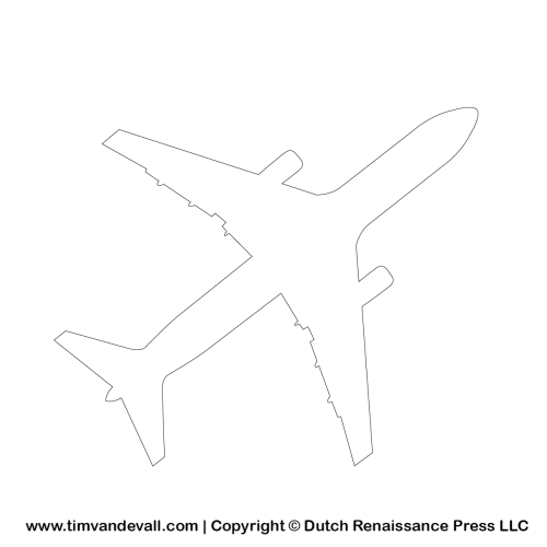 airplane outline template