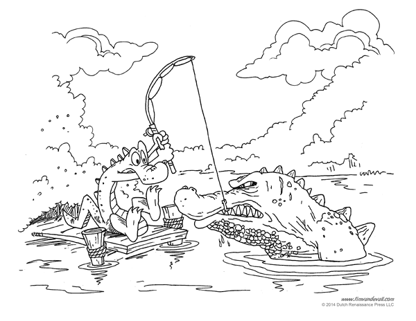 alligator coloring pages