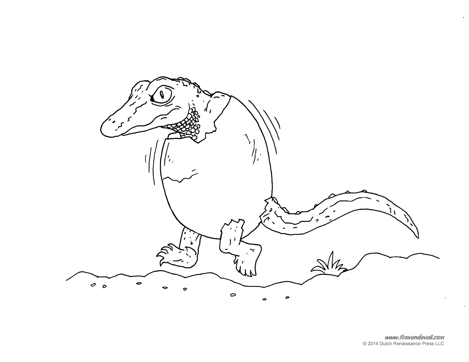 Alligator Coloring Page - Art Starts for Kids | 1159x1500