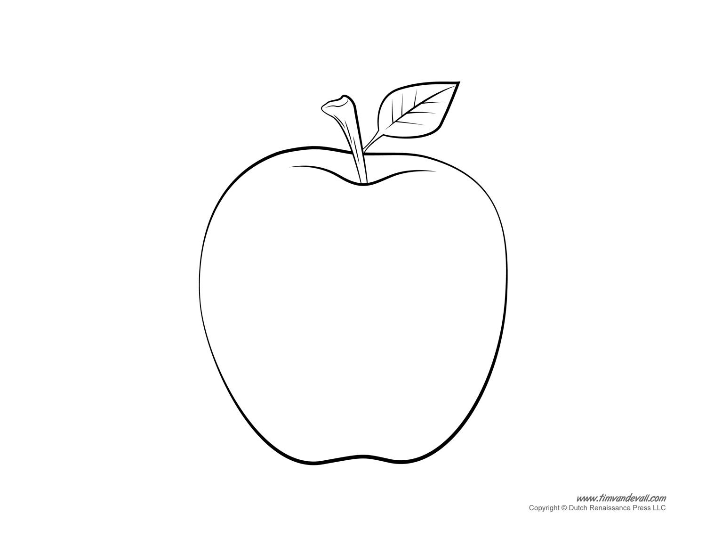 Printable Apple Templates to Make Apple Crafts for Preschool