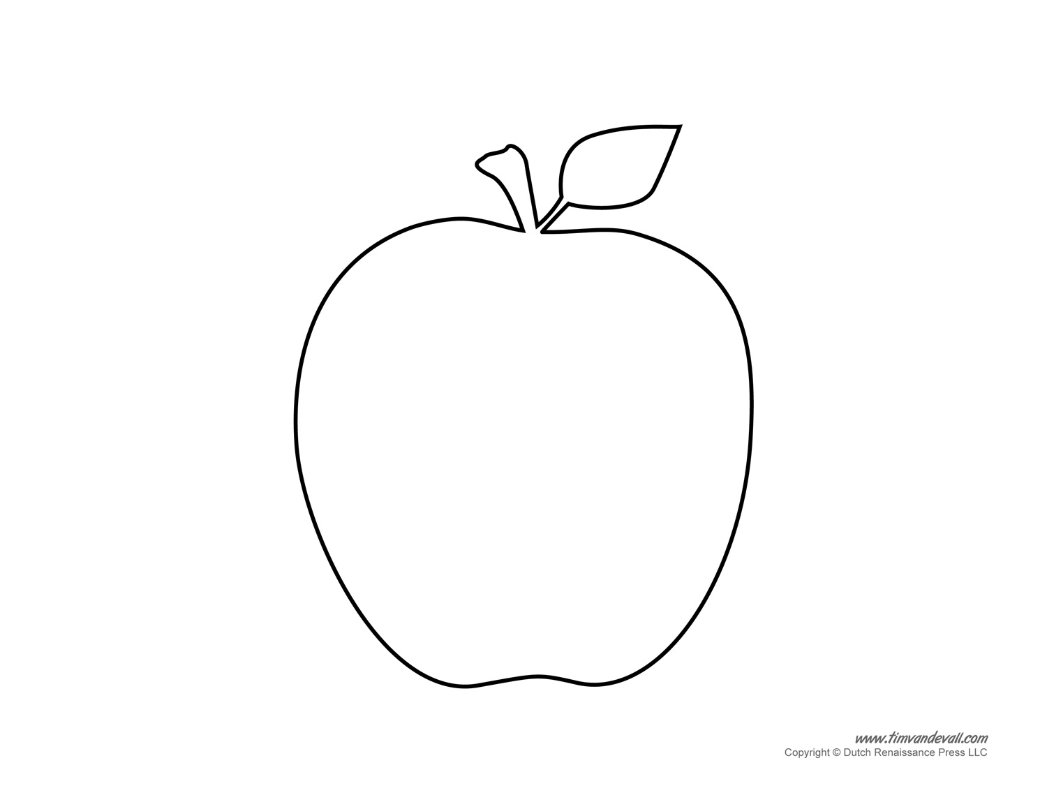 This is an image of Divine Apple Template Printable