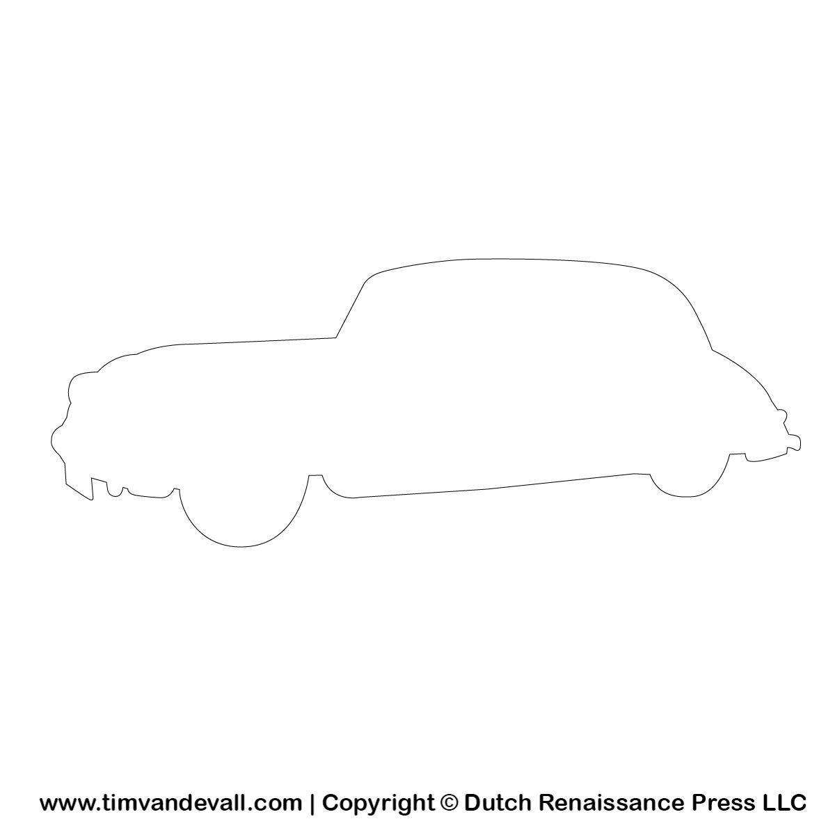 Automobile Silhouette Stencil Automobile Outline Clipart