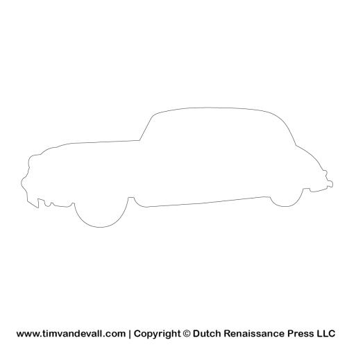 automobile outline template