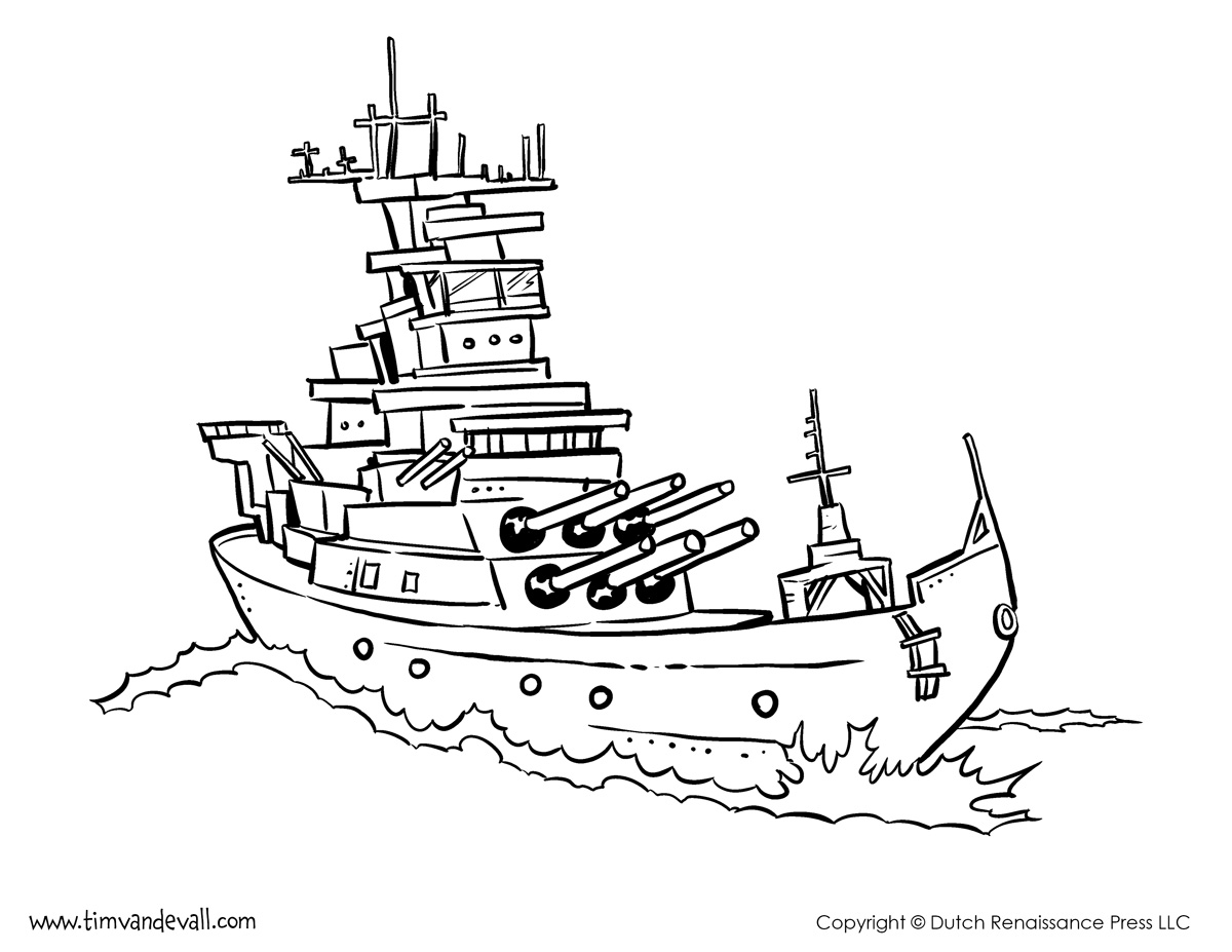 Battleship Coloring Page