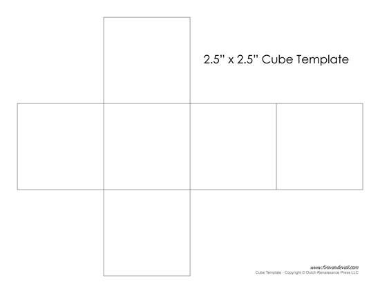 blank cube template tim s printables