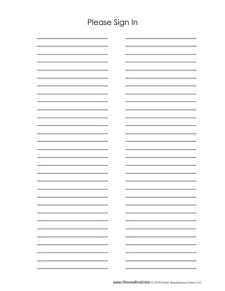 Sign In Sheet Template #2