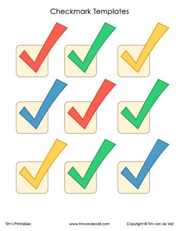 Checkmark Symbol Templates