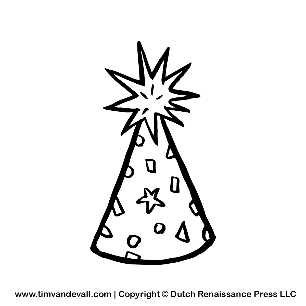 Party Birthday Hat Png - Party Hat Black And White Clipart Transparent Png  (#5537892) - PinClipart