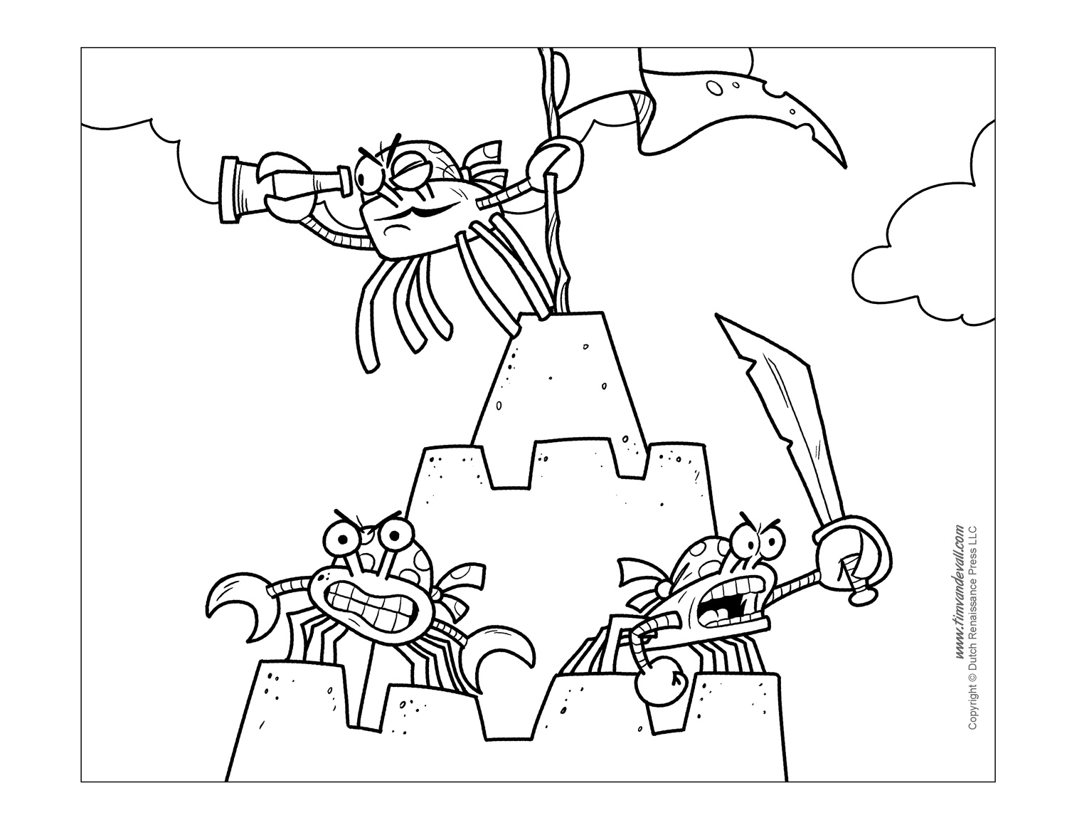 - Crab Coloring Pages