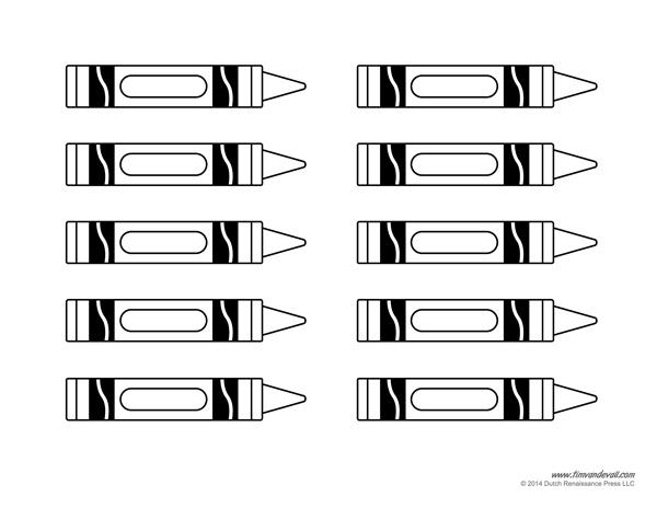 crayon template