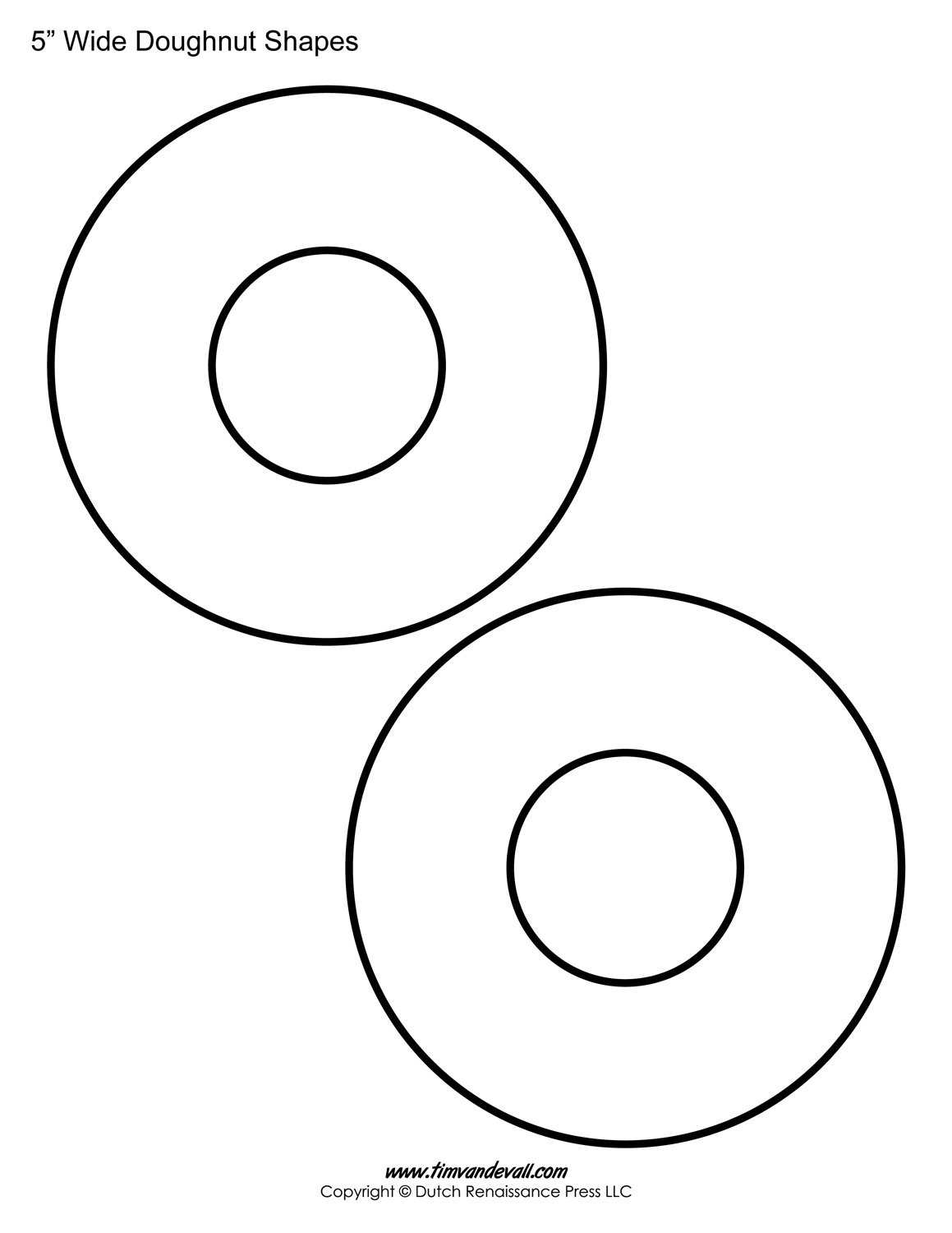 Printable Donut Templates