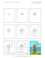 Easy Drawing Tutorials for Kids - Pirate