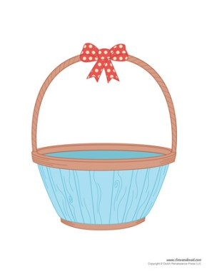 Easter basket template printable