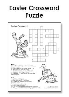 Free Printable Easter Crossword